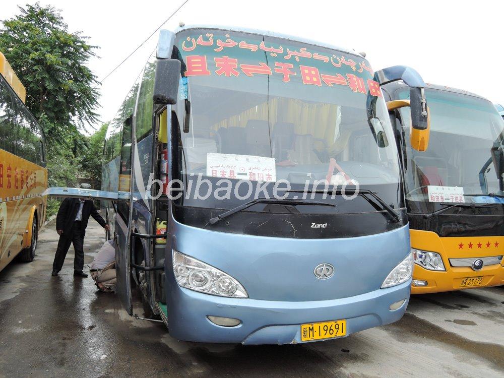 ホータン→チャルチャンのバス