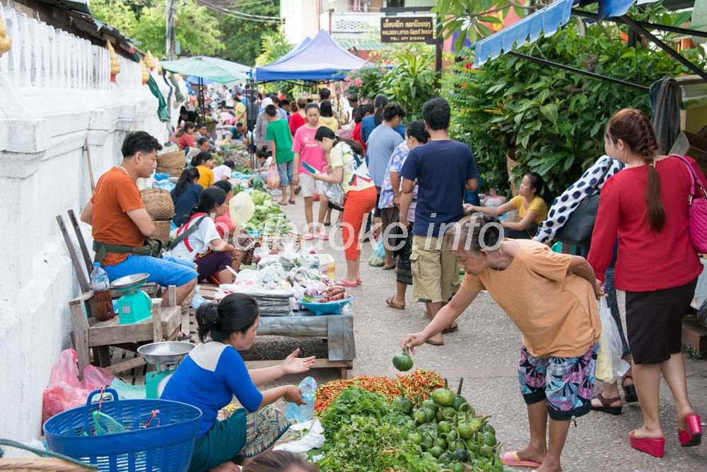 ルアンパバーンのマーケット