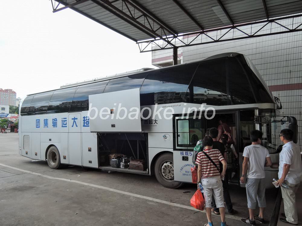 南寧行きバス