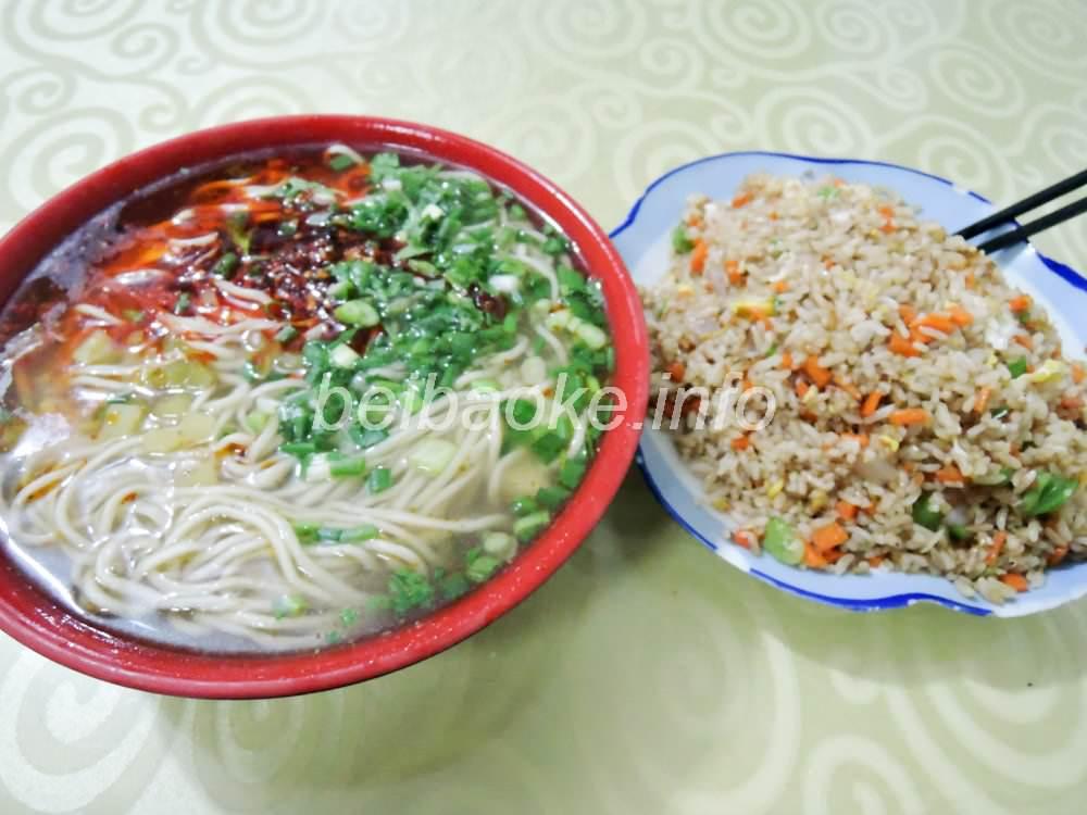 素拉麺と蛋炒飯