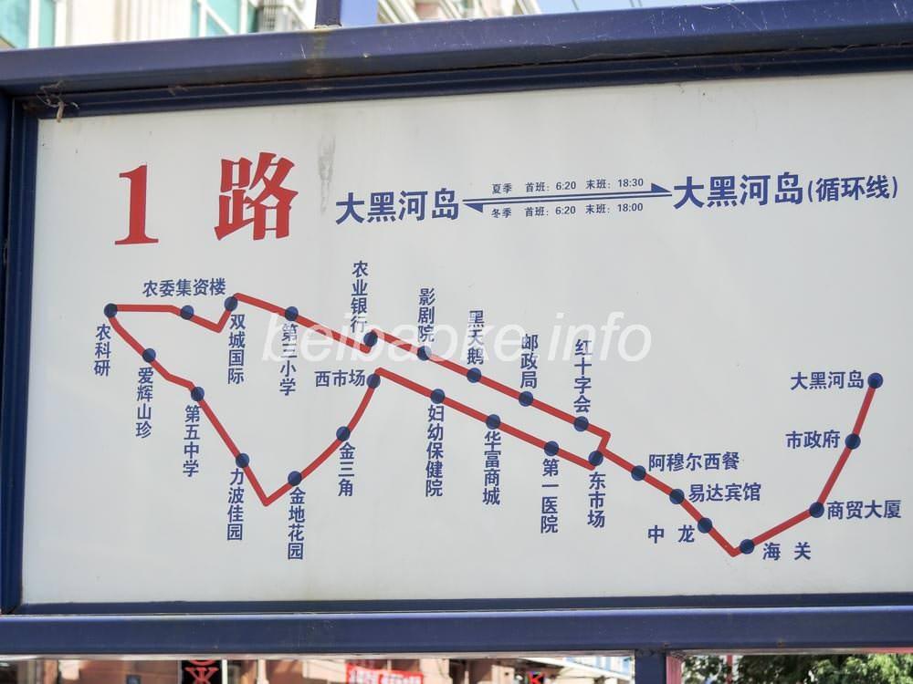 1路バス路線図