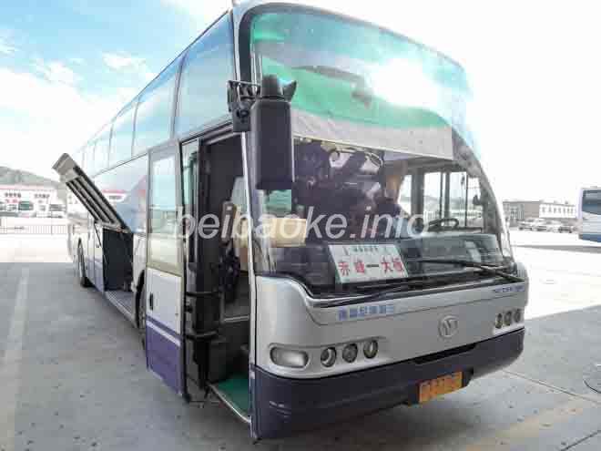 赤峰行きバス