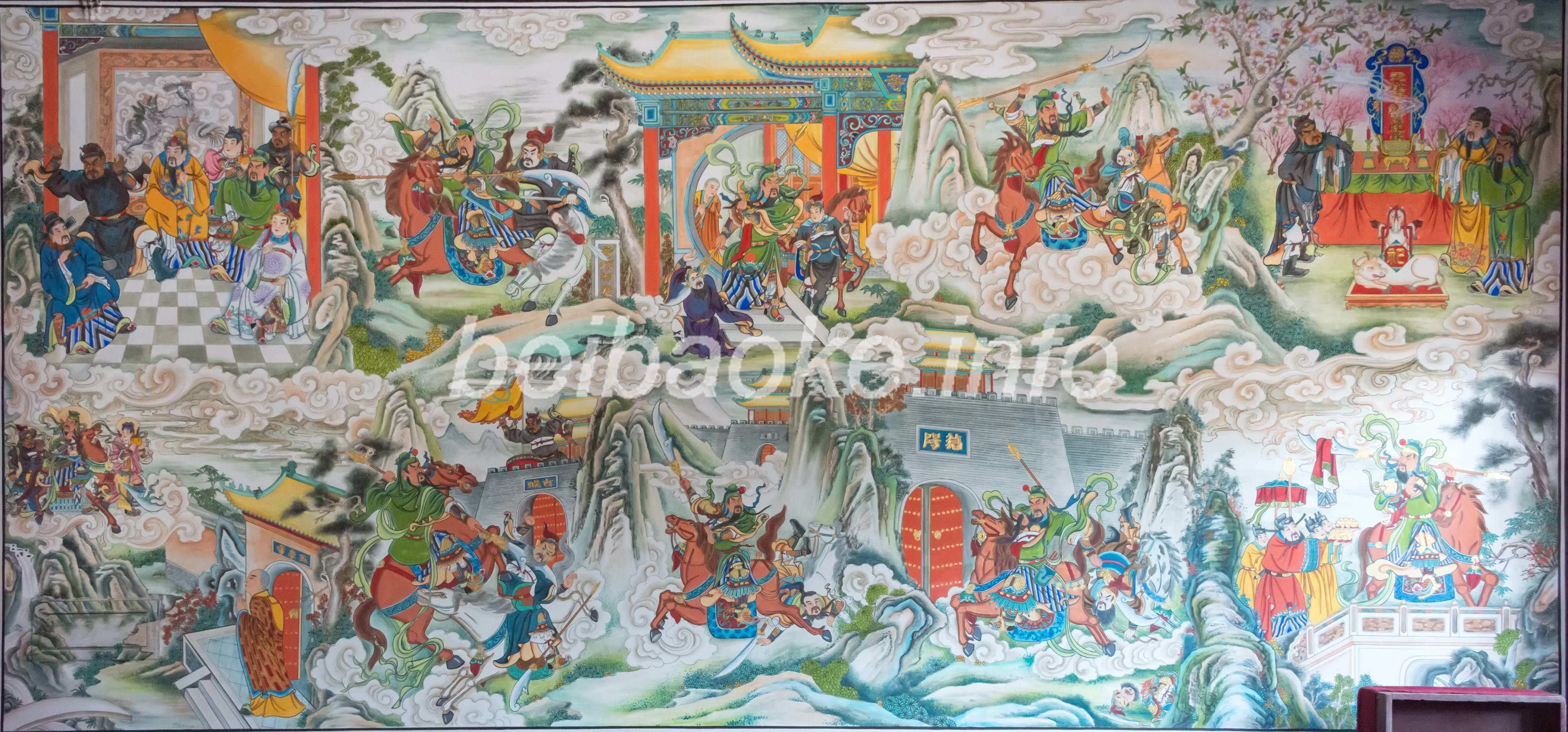 関羽関連の壁画