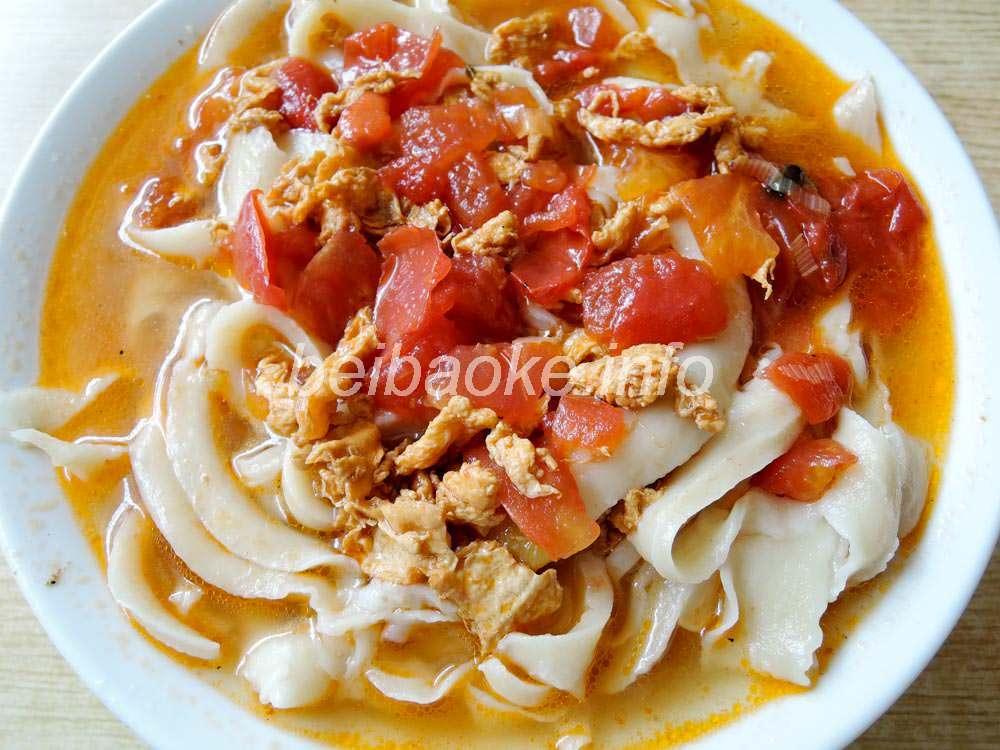 西紅柿鶏蛋刀削麺