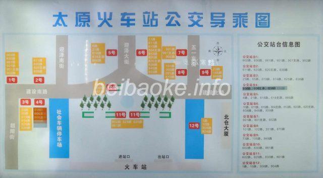 太原駅バス発車場所地図