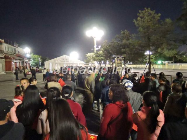 天安門広場への行列