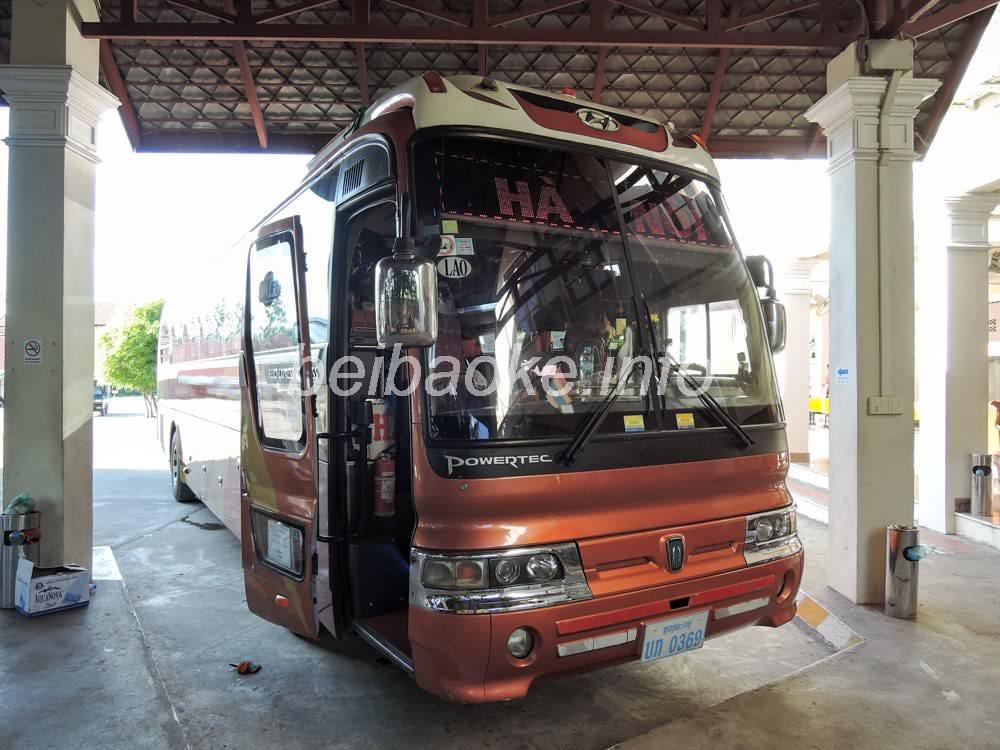 ベトナム・ハノイ行き国際バス