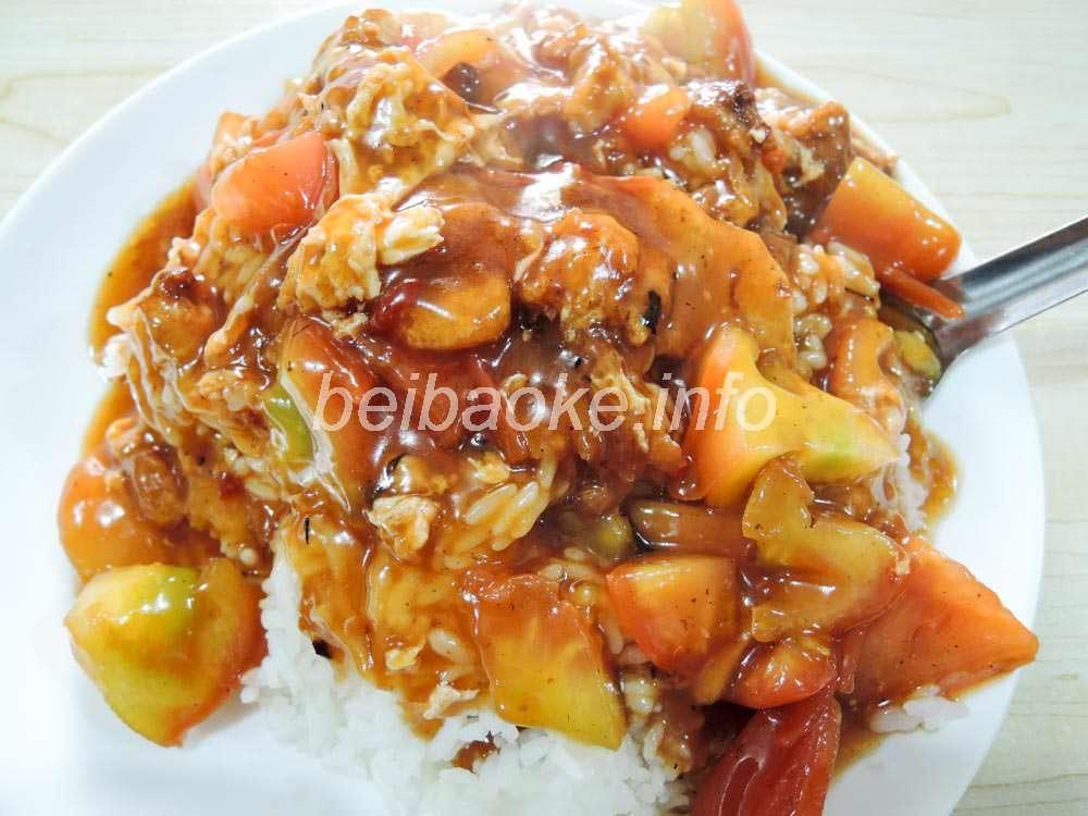 西紅柿鶏蛋蓋飯