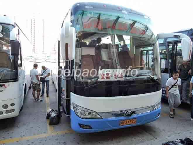 赤峰→正藍旗のバス